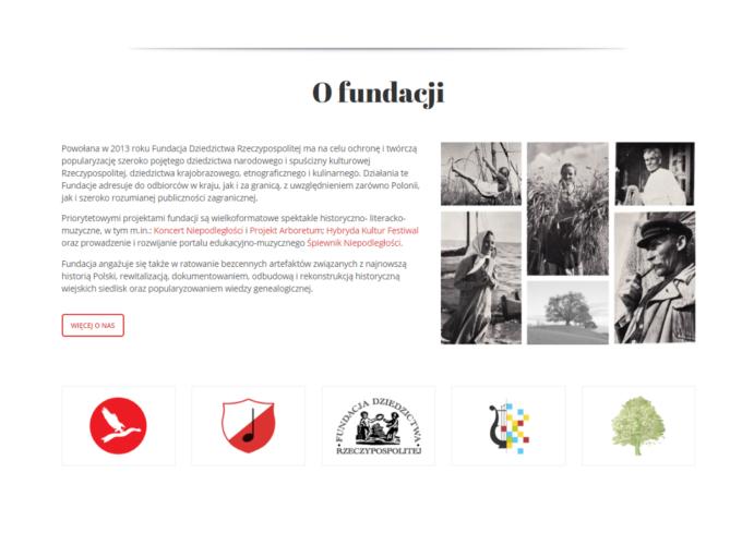 Strona Fundacji Dziedzictwa Rzeczypospolitej