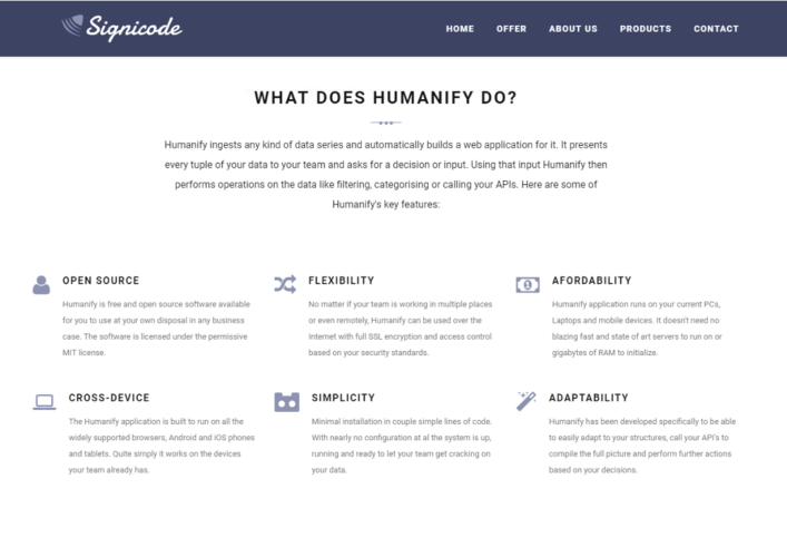 Humanify solution