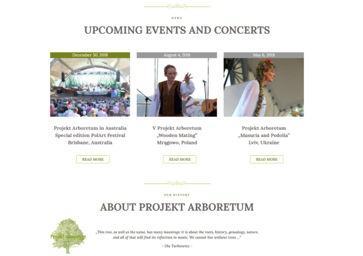 Project Arboretum home page
