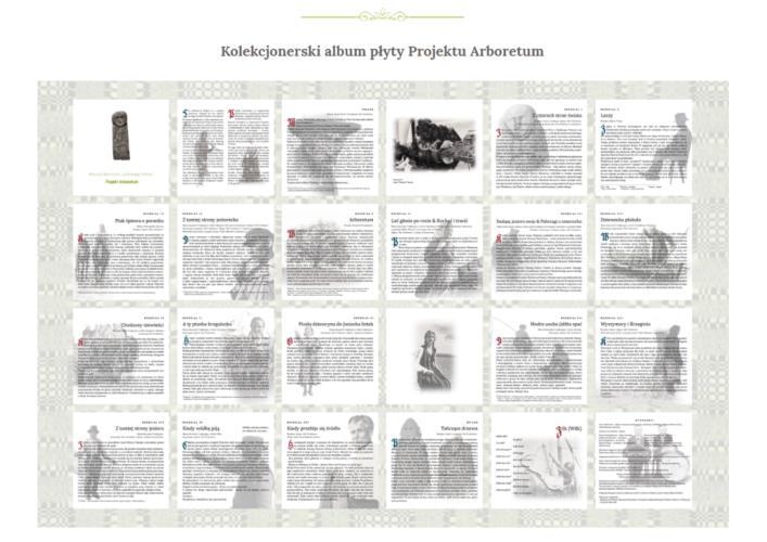 Kolekcjonerski album płyty Projektu Arboretum