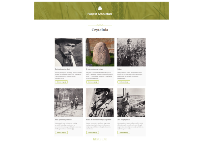 Projekt Arboretum czytelnia