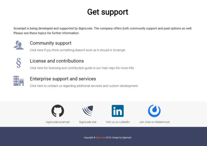 Scramjet support