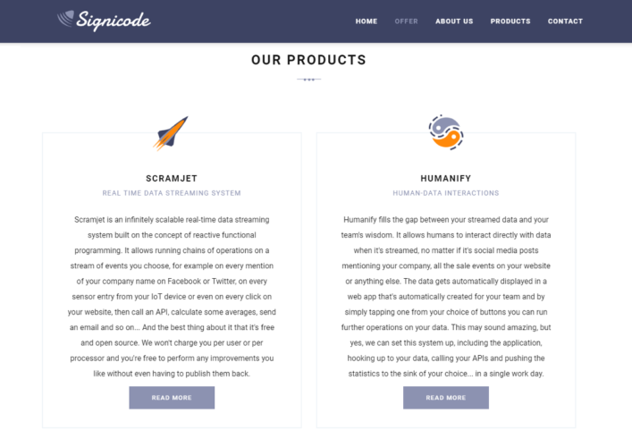 Signicode products